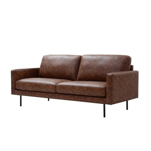 Central 3-istuttava sohva, tummanruskea - Mööpeli.com