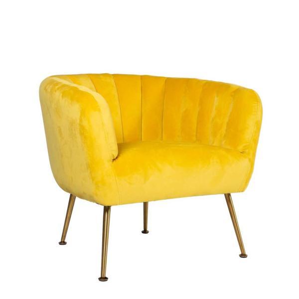 Tucker nojatuoli, keltainen - Mööpeli.com