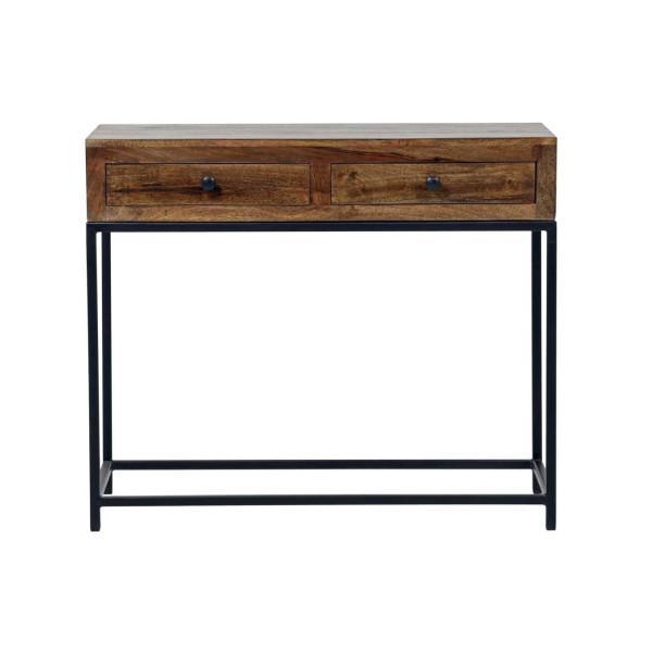 Manhattan sivupöytä, ruskea / musta - Mööpeli.com